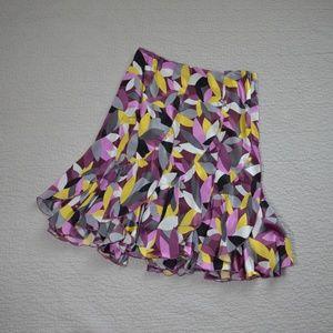 Ideology Silk Ruffled Hem Skirt Size 6